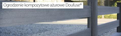 Ogrodzenie kompozytowe ażurowe Doufuse