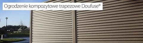 Ogrodzenie kompozytowe trapezowe Doufuse